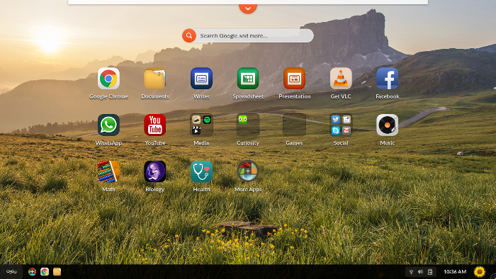 Endless OS desktop