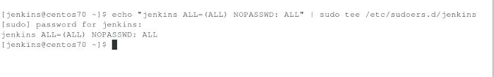 Adding passwordless sudo