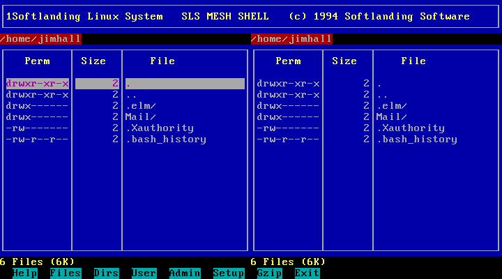The Softlanding menu shell (MESH)