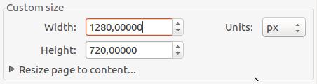 Setting custom screen size