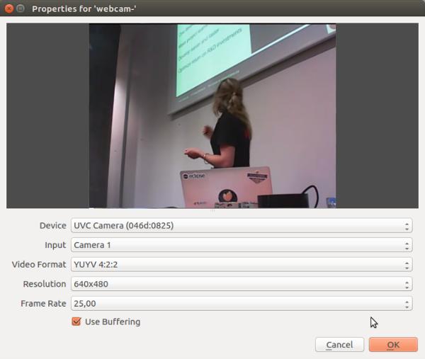 Webcam properties