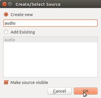 Add audio source