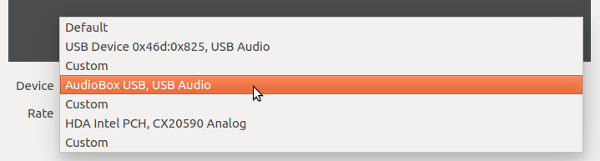 Select audio device