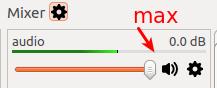 Setting max audio level