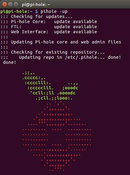 Updating pi-hole