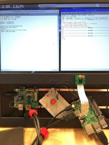 Adding physical components to a Twitter program