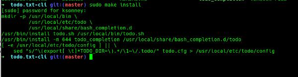 Installing todo.txt