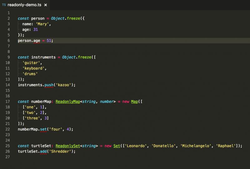 TypeScript Readonly Interfaces
