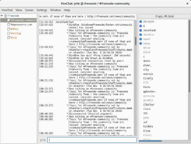 Slack alternative: IRC