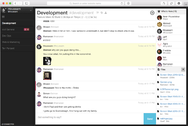 Slack alternative: Let's Chat
