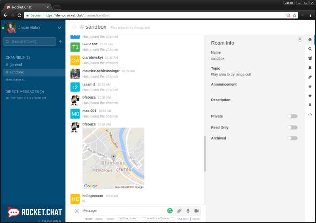 Slack alternative: Rocket.Chat