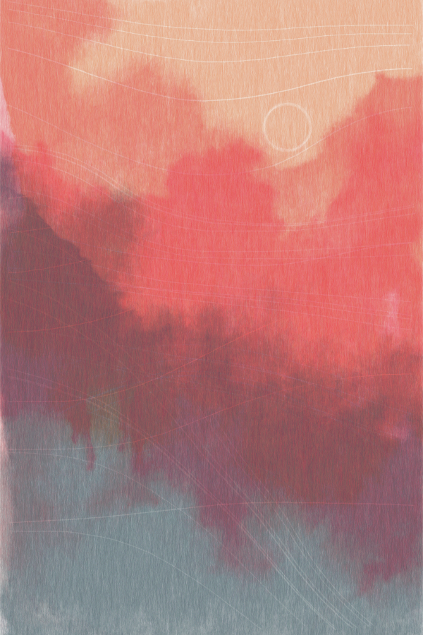 Example of watercolor effect using generative art
