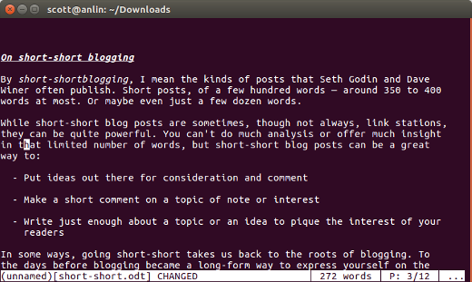 Wordgrinder screenshot