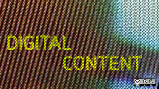 Digital content text on background