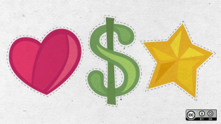 Hearts, stars, and dollar signs