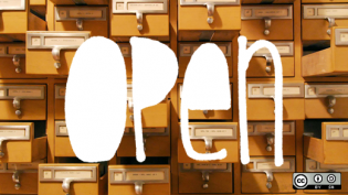 An open card catalog