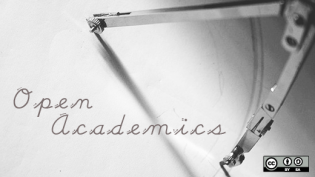 open academics written on paper
