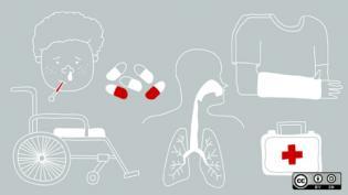 symbols showing healthcare