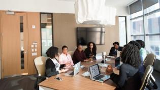 Women in tech boardroom