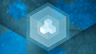 Data container block with hexagons