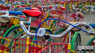 Google bikes on campus