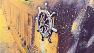 Wheel of a ship