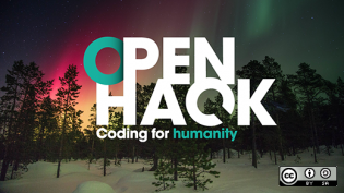 Open Hack coding for humanity event logo