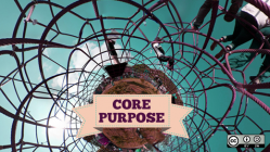 Core purpose people on jungle gym.