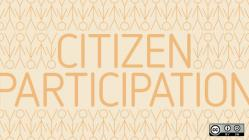 citizen participation on light background