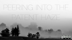 peering into the patent haze