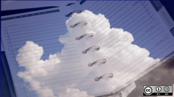 Cloud image on top of a planner