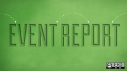 event report on green background