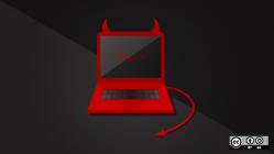 A laptop with BSD horns.