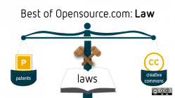 Scales of law with licenses including proprietary and creative commons
