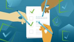 a checklist for a team