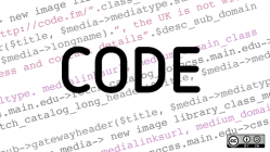 Code with javascript on white background