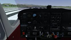 Screenshot of the cockpit of the virtual game Flightgear