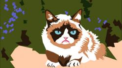 Grumpy cat graphic by Kimberly Keyes