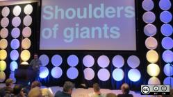 Shoulders of giants on a screen