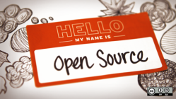 Hello my name is Open Source name tag