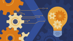 gears and lightbulb to represent innovation