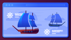 Ships at sea on the web