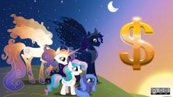 My Little Pony fan art with dollar sign