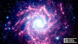 NASA spizter space pink spiral