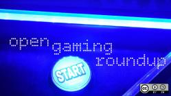 Open gaming roundup with blue light and start button