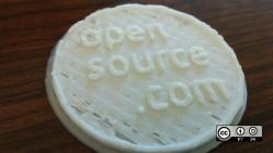 Opensource.com 3D printed coin