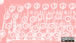 Typewriter keys in pink