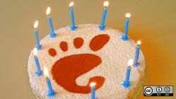 Gnome anniversary cake
