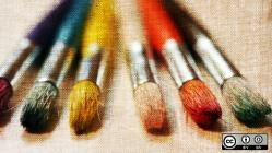 6 paint brushes