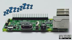 Raspberry Pi board with sleeping z's